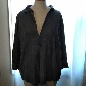 Zara Woman Distressed Shirt Size XL
